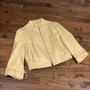 Arden B gold genuine leather jacket M